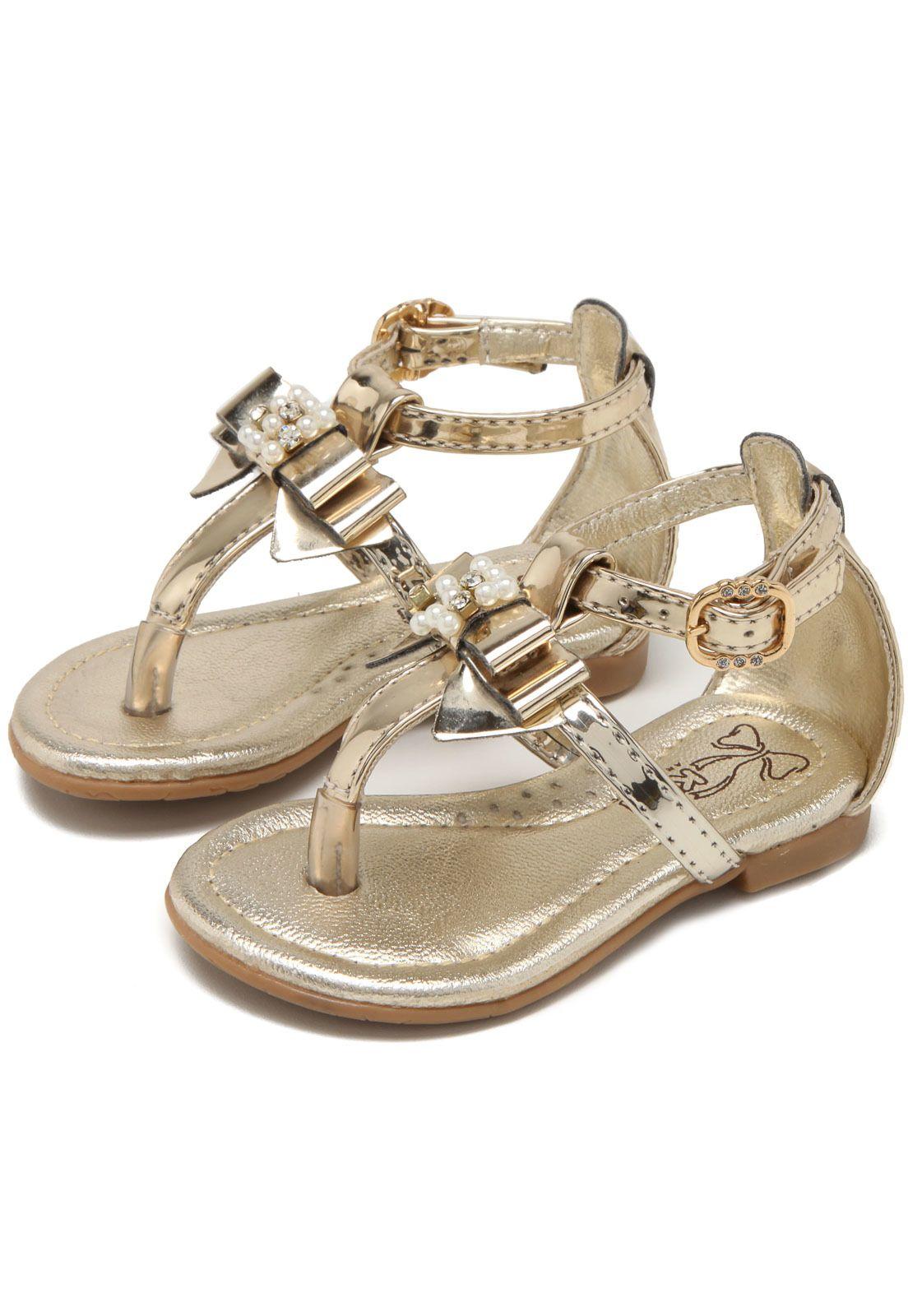 Sandália Dourada para bebê