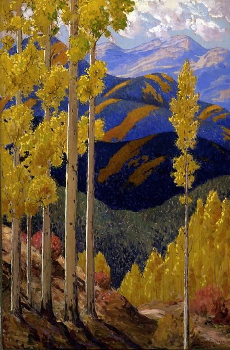 Sheldon Parsons, Santa Fe Mountains in October  on ArtStack #sheldon-parsons #art