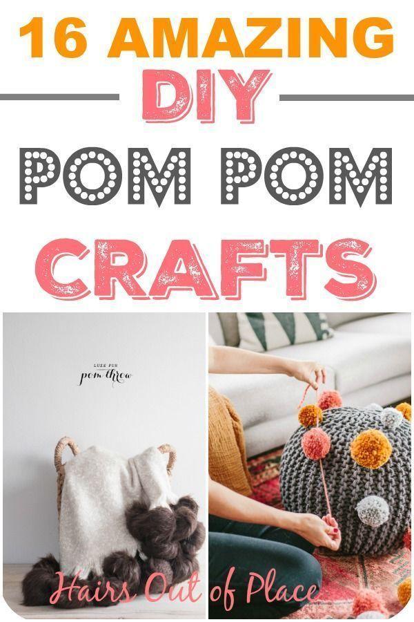 14 Fun Pom Pom Crafts for Adults | Pom pom crafts, Diy ...