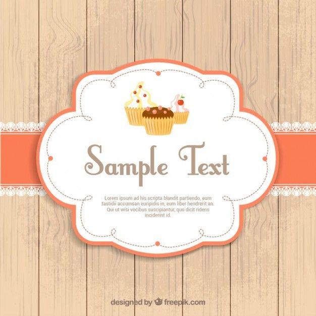 Cupcakes label free vector graphic design l cupcakes label free vector stopboris Images