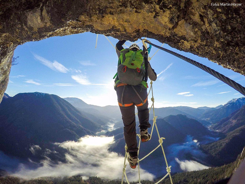 Klettersteig Urlaub : Hochkar klettersteig bergmandl heli kraft im test schöner einstieg