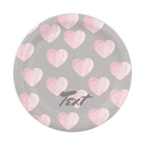 elegant clear light pink love heart pattern paper plate  sc 1 st  Pinterest : clear paper plates - pezcame.com