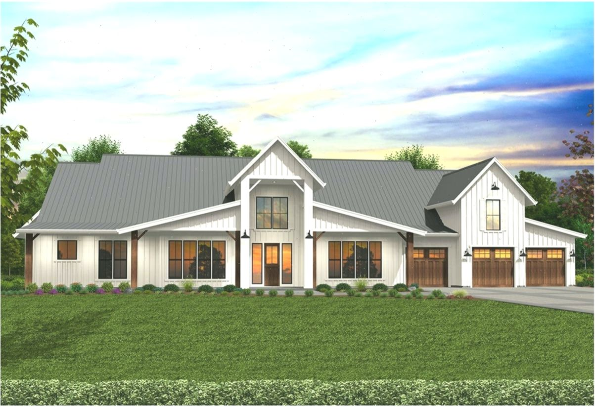 Fully Featured Modern Barn House Plan With Indoor Outdoor Living Dreamhouseplans Dream Dreamhouseplansbarn Dr Modern Barn House Barn House Plans Barn House