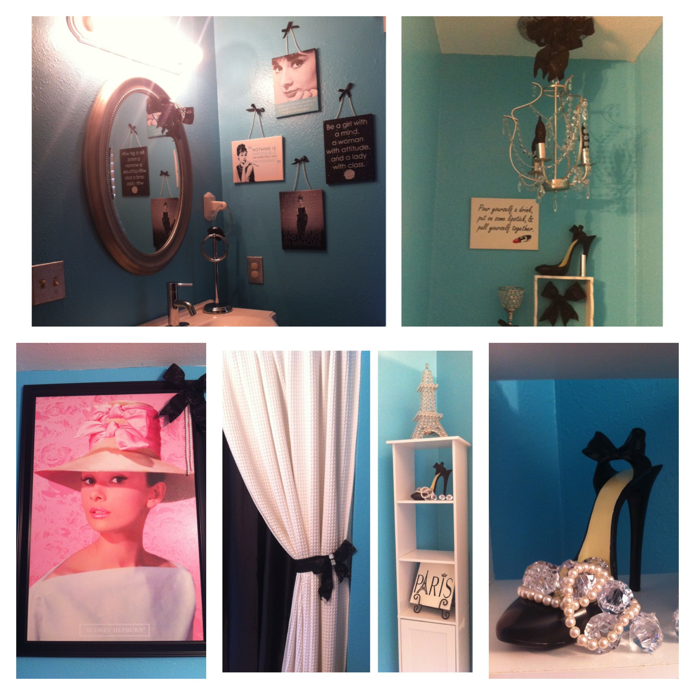 Audrey Hepburn Tiffany Blue Bathroom Decor