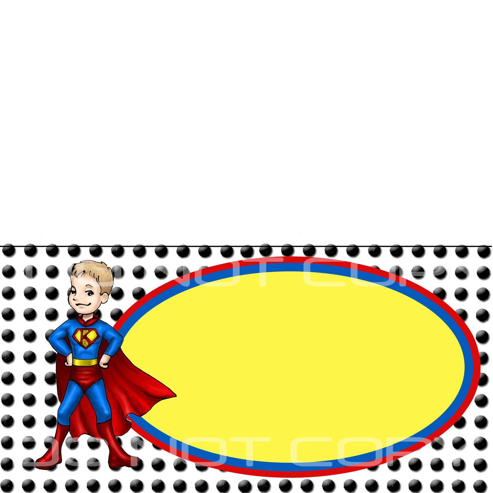 Superhero Place Card Easypeasy Superman Party