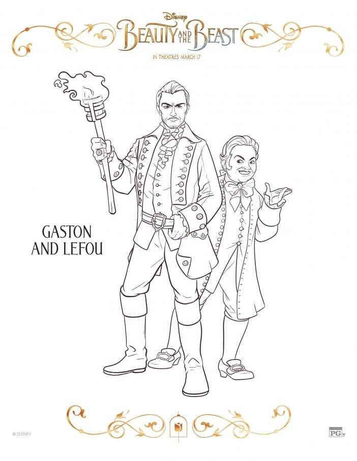 Disney Beauty And The Beast 2017 Coloring Pages Pinterest Beast
