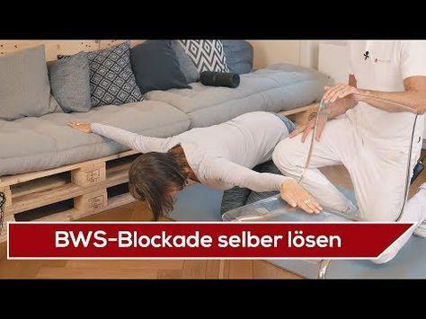 BWS Schmerzen Übungen Brustwirbelsäulen Blockade selber