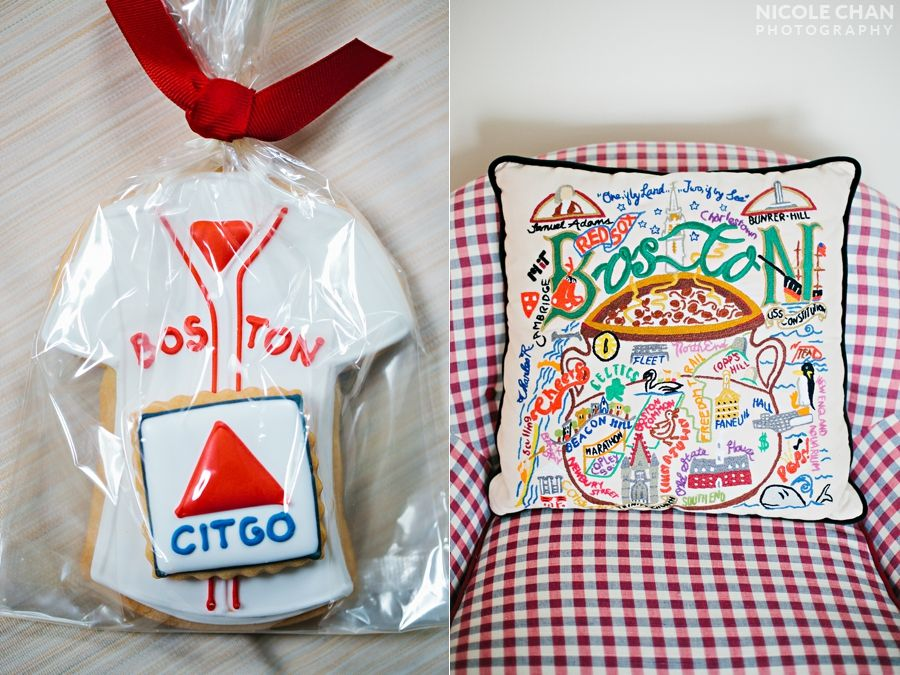 Boston Red Sox Cookie Favors