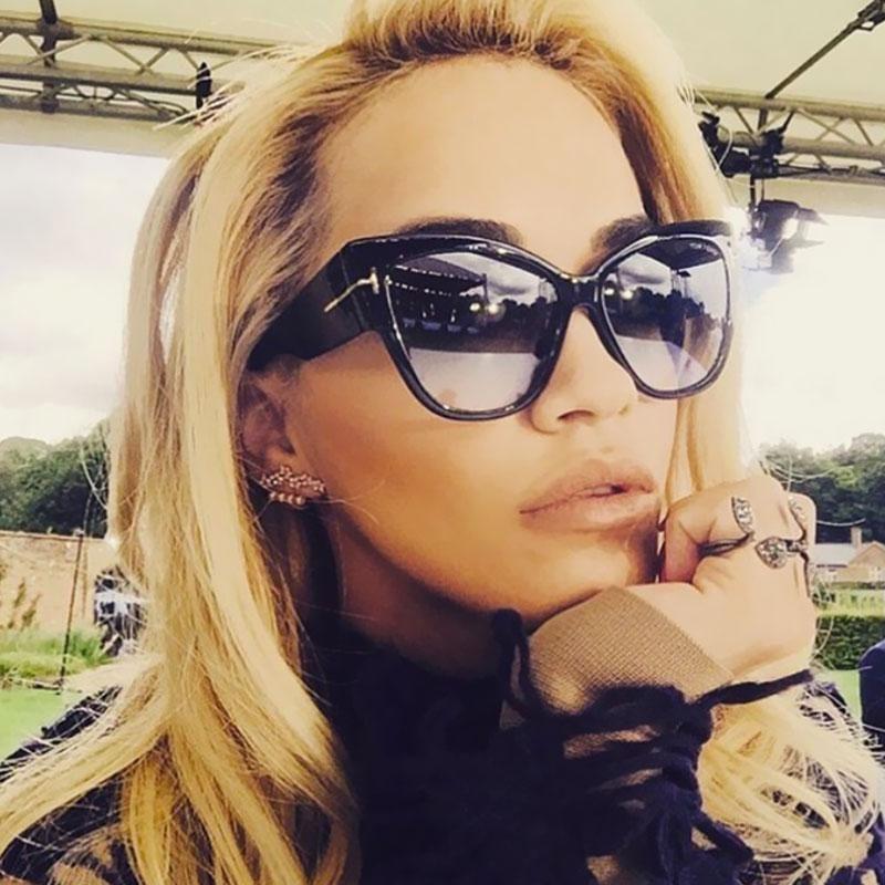 d1c5078778 Luxury Designer Cat Eye Sunglasses Women ~ Retro Female Mirror ...