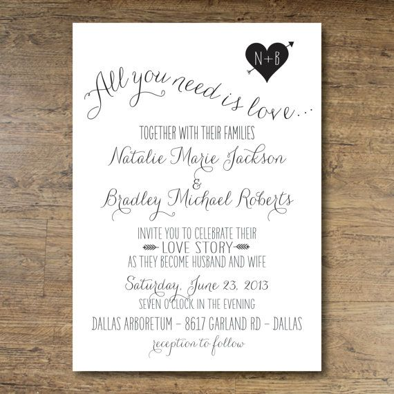 """Story Guide To Wedding Invitation Wording: I Love The Wording Of This One """"Invite You To Celebrate"""
