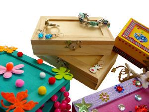 Create your own wooden jewellery box Great craft idea for kids