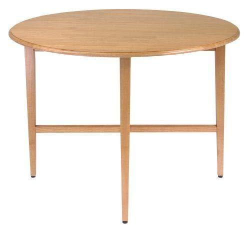 Amazonsmile 42 Inch Round Drop Leaf Table Folding Dining Kitchen