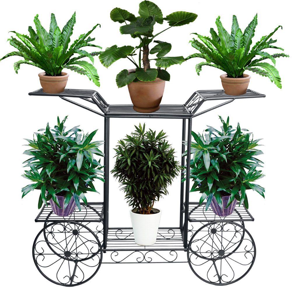wrought iron flower pot plant stands bonsai pot rack sitting room wrought iron flower pot plant stands bonsai pot rack sitting room balcony 6 tier ebay