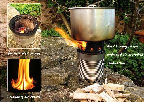 Homemade Bushbuddy Ultra Wood Burning Camping Stove