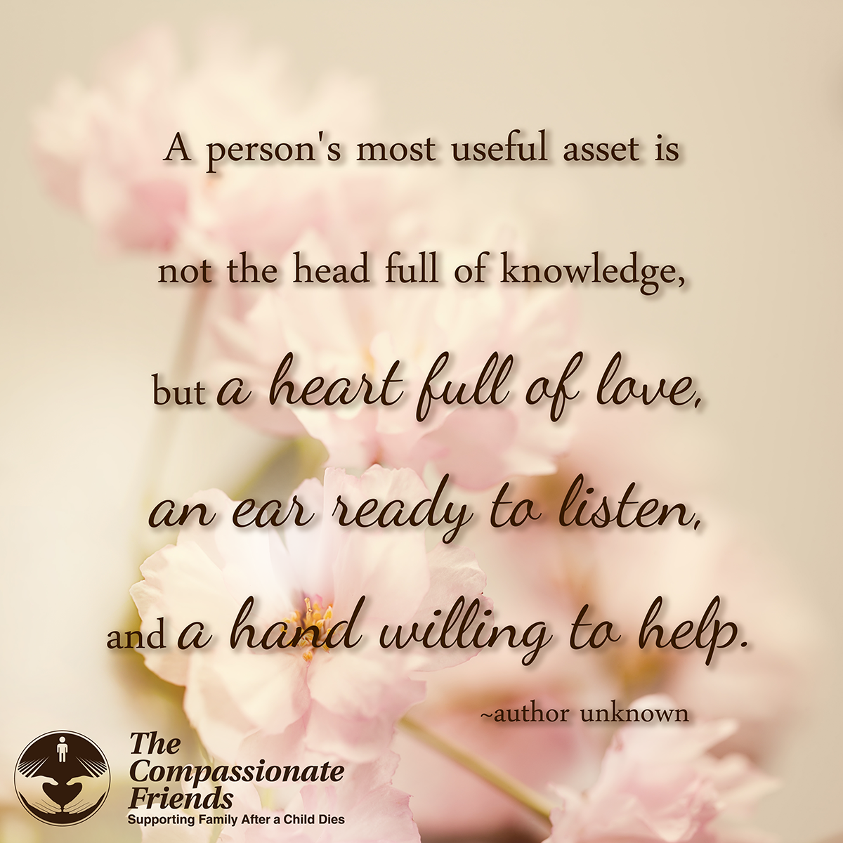 Supporting Quotes Grief Quotes A Person's Most Useful Asset Is.the