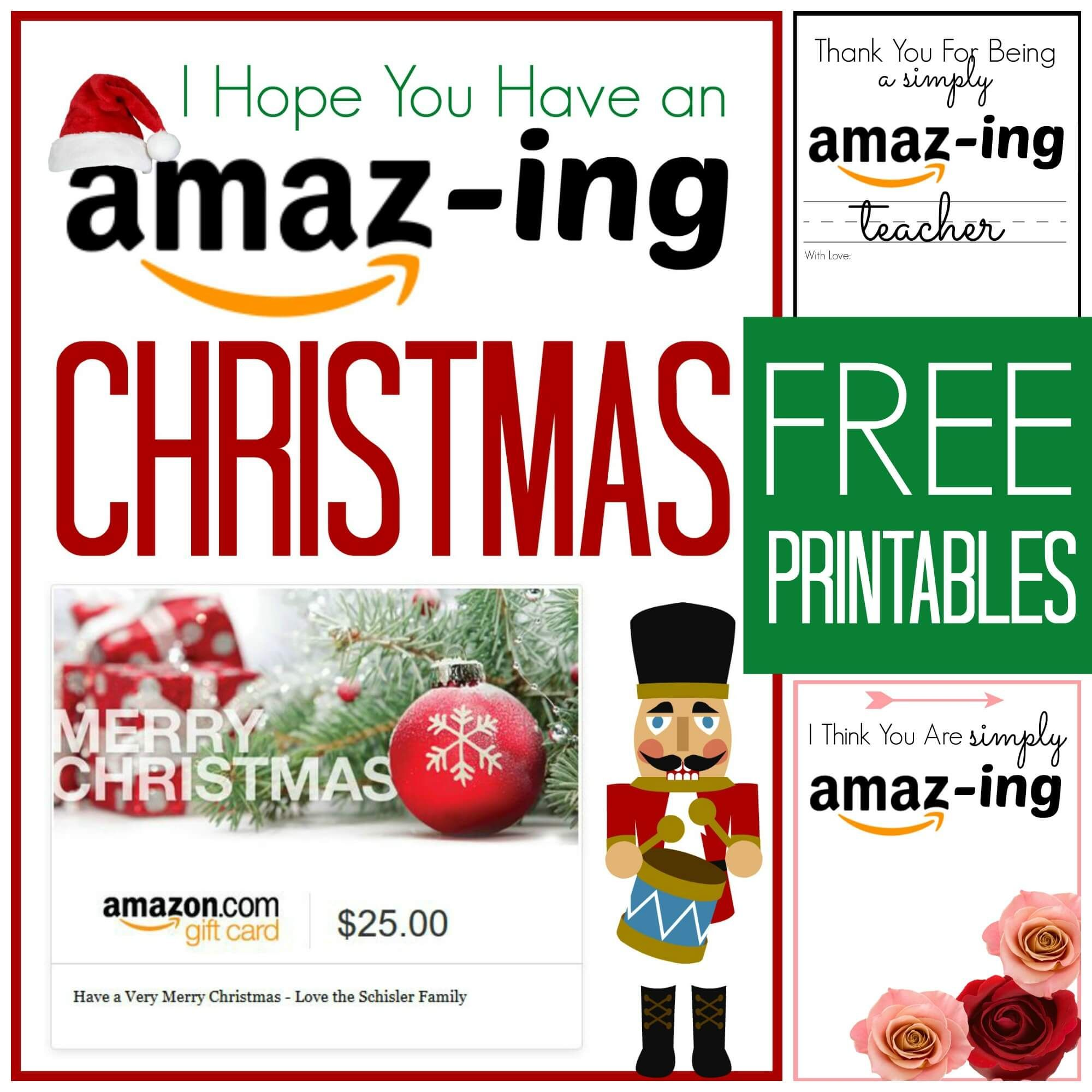 graphic about Amazon Gift Certificate Printable called Amazon Reward Card Printables Present Tips Amazon presents