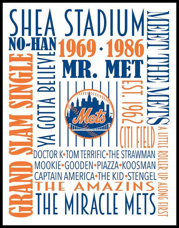 New York Mets Print Poster Subway Art National League