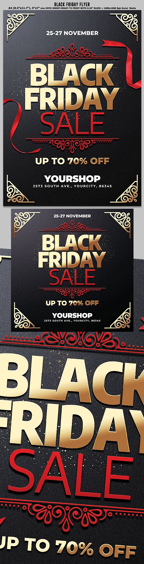 Black Friday Sale Flyer In 2020 Black Friday Flyer Black Friday Sale Flyer Black Friday Sale