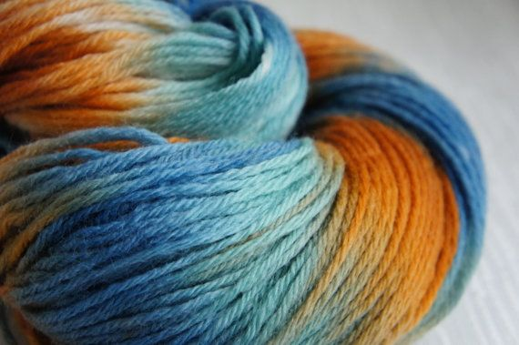 Merino top for spinning 21 micron-teal and brown 100g