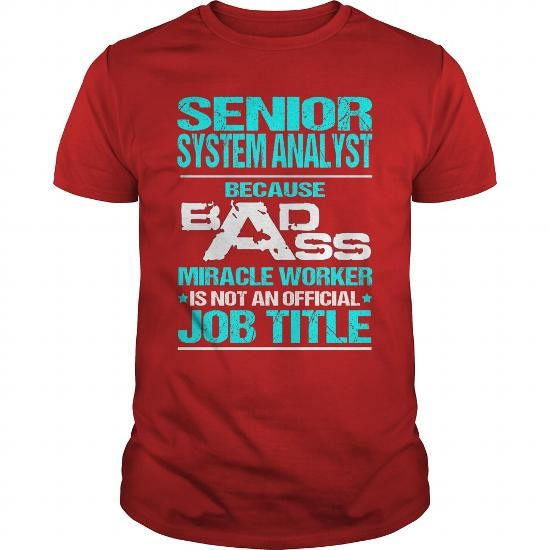 SENIOR SYSTEM ANALYST Because BADASS Miracle Worker Isn Design