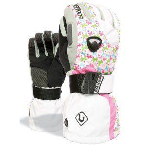 Level Butterfly Rainbow Snowboard Gloves