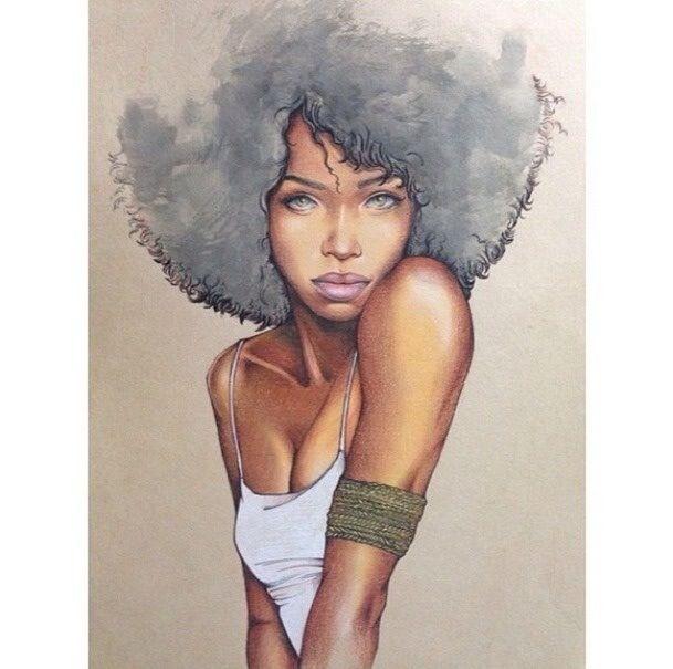 #drawing #portrait | desenhos | Desenhos de cabelos ...