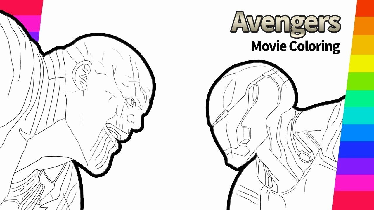 Infinity Gauntlet Coloring Page Luxury Thanos And Iron Man Drawing Avengers Infinity War Mov Avengers Coloring Pages Unicorn Coloring Pages Moon Coloring Pages