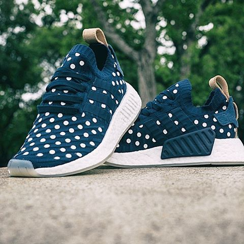 373fb05a9 Polka Dots · Sole ·  mulpix Available April 6th   11AM Women s Adidas NMD R2  PK (Navy