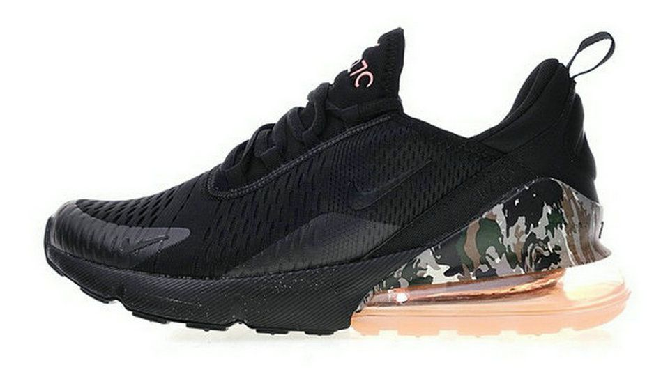 2018 Real Nike Air Max 270 Sunset Tint Camo Heel Release