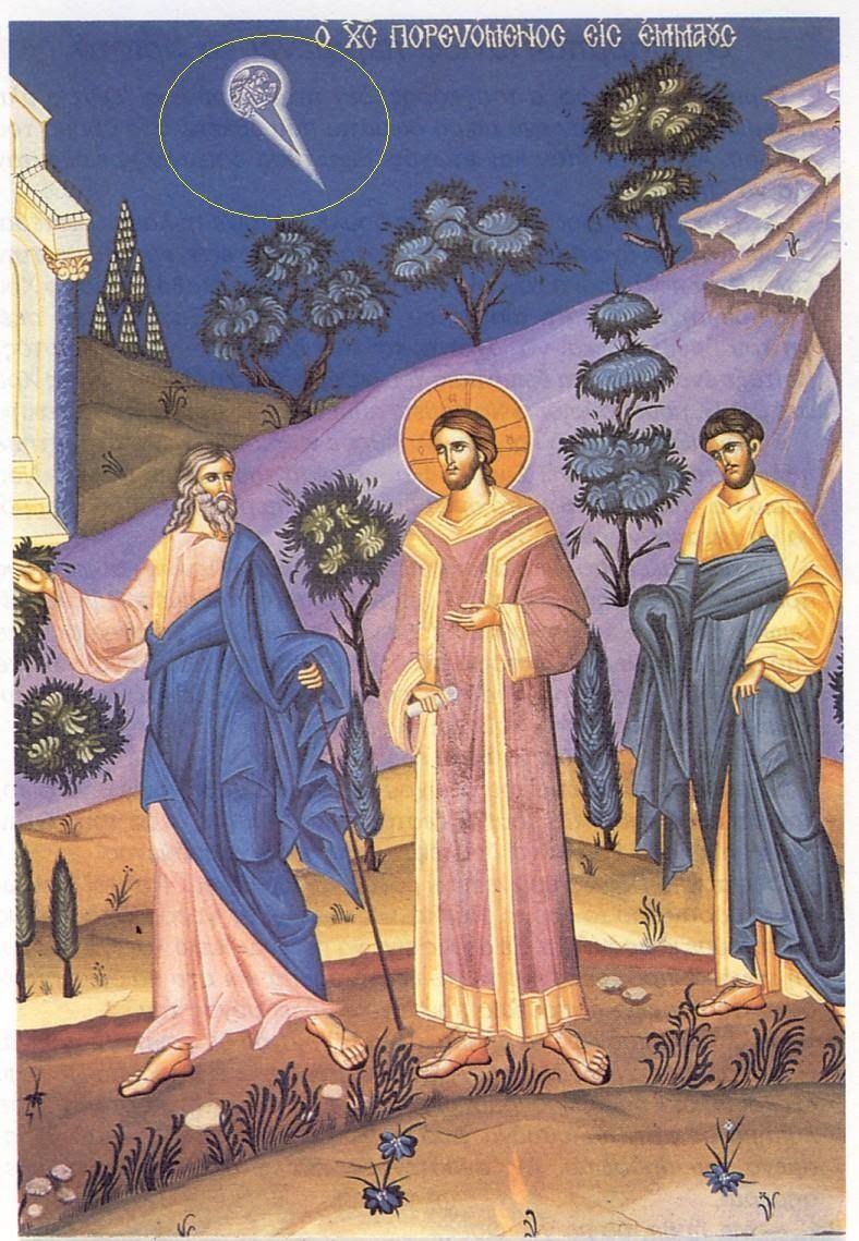 Icon of the Road to Emmaus (Luke 241332) Iconography