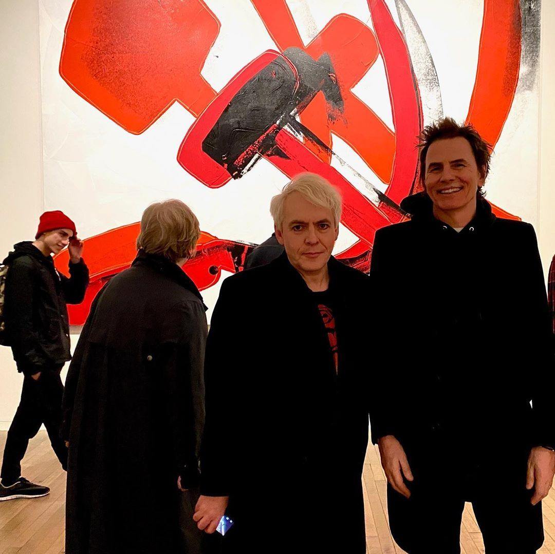 Duran Duran On Instagram Lookie There Nick John At The Tate For Andy Warhol By Duggiefields Duran Andy Warhol Warhol