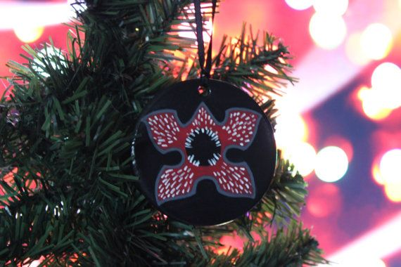 stranger things show inspired demogorgon ornament great gift for that hard to buy for nerd geek