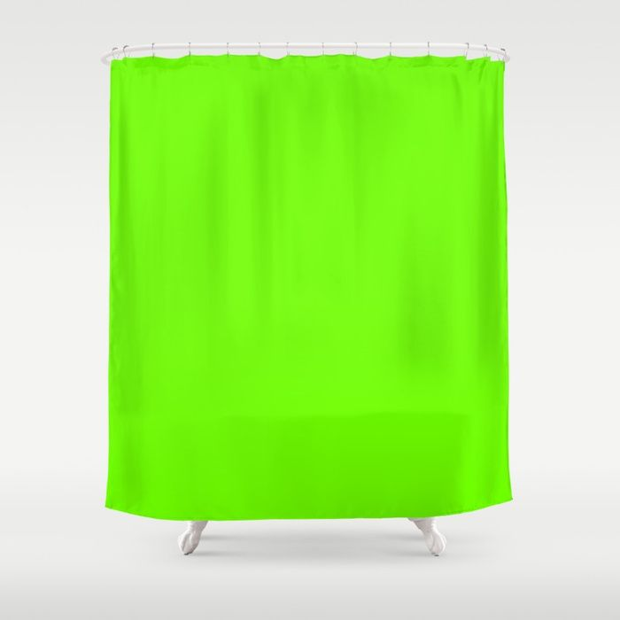 Bright Fluorescent Green Neon Shower Curtain Showercurtain Homedecor Bathroom