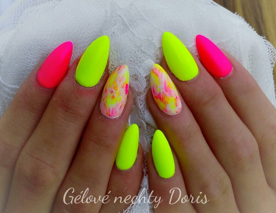 50 Trending Summer Nail Art Ideas To Try Bright Nails Neon Neon