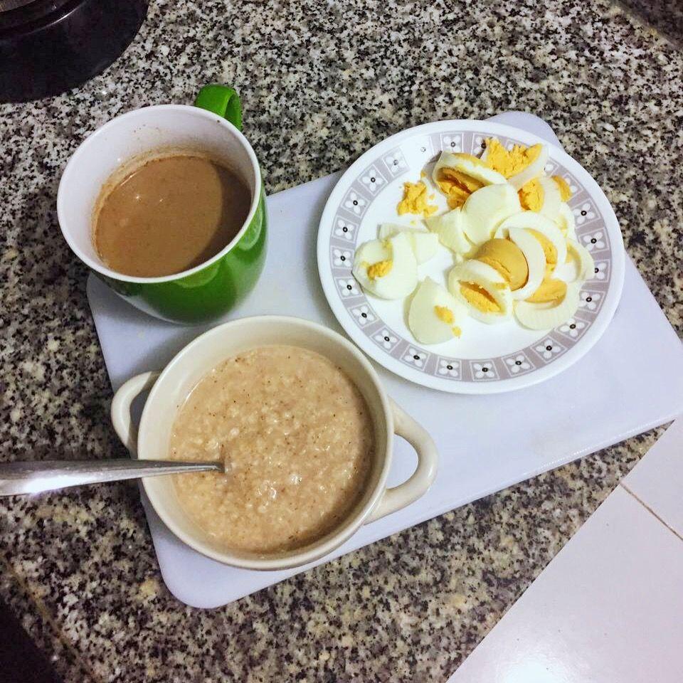 Desayuno Saludable Con Huevo Y Avena