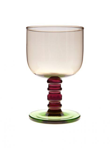 Sukat makkaralla -jalallinen lasi (savu,liila,vihreä) |Sisustustuotteet, Keittiö, Lasitavara | Marimekko