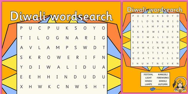Diwali, Wordsearch, Word Search, Word