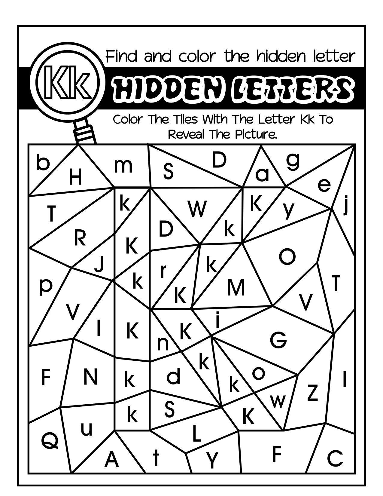 Hidden Lettersfun Coloring Alphabet Worksheets For