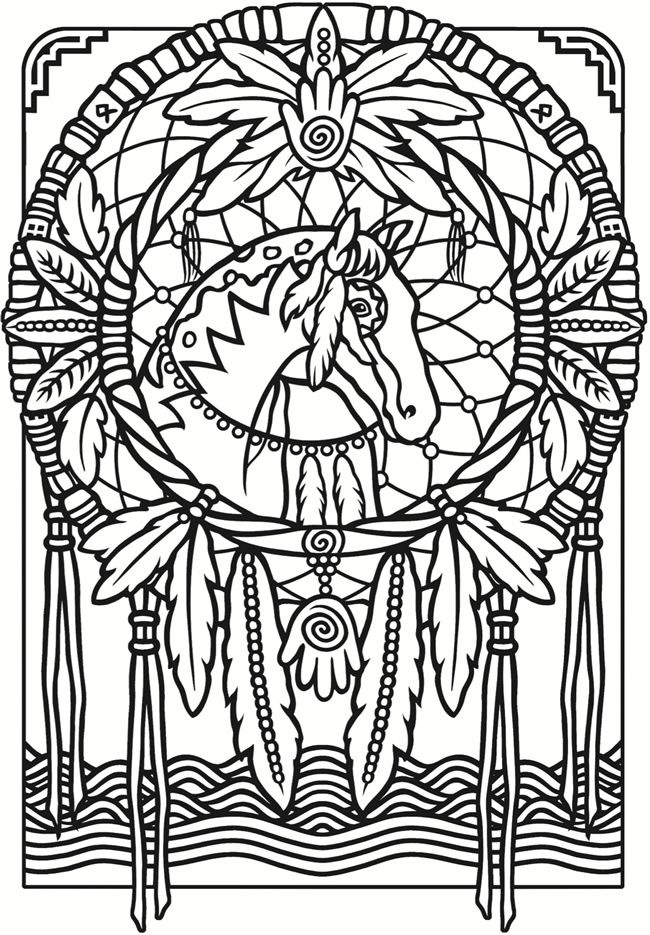 Stained Glass Coloring Page From The Book Creative Haven Dreamcatchers