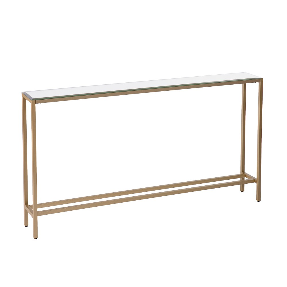 Dillard Narrow Long Console Table Deep Gold Aiden Lane In 2020 Skinny Console Table Narrow Console Table Long Console