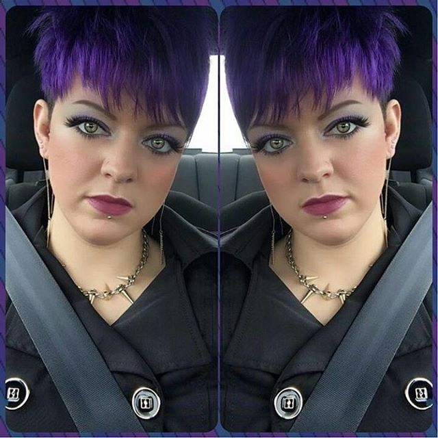 lila haare farbe und kurzes haar lila haare extreme haarfarben und kurze haare