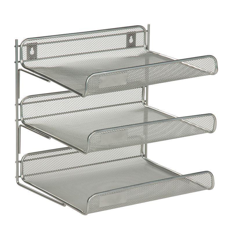 Honey-Can-Do 3-tier Desk Organizer, Silver