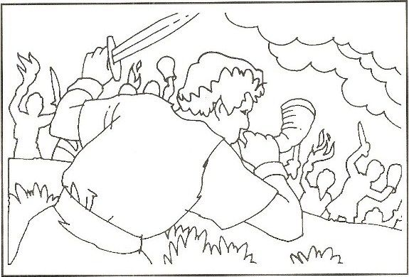coloring sheet of gideon | Gideon | Gideon Coloring Pages | Gideon ...
