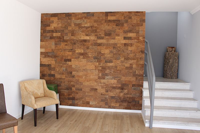 "Brown Bricks Cork Wall Panels 25/64"" (10mm) Thick x 9-29"