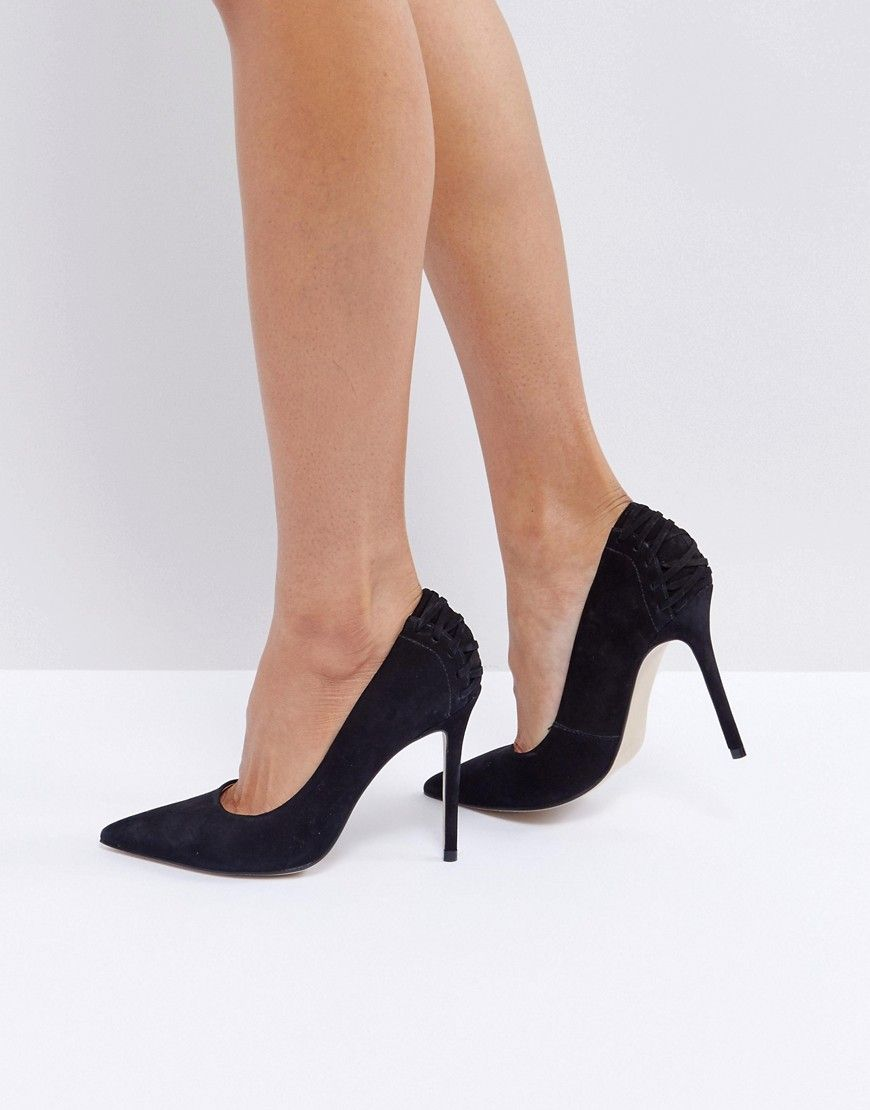 c65dfb9dd5e Steve Madden Paiton Corset Back Heeled Shoes - Black
