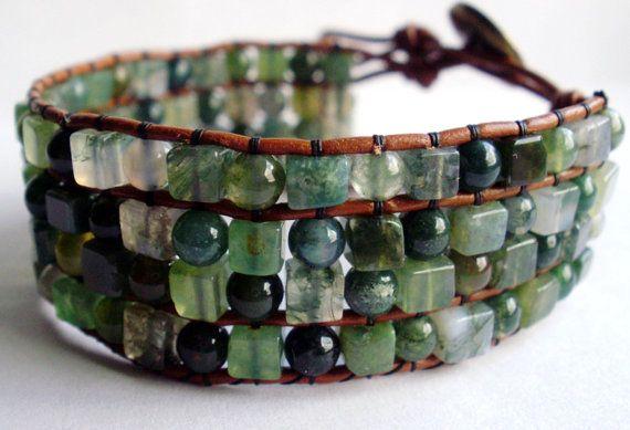 handmade semiprecious stone cuff