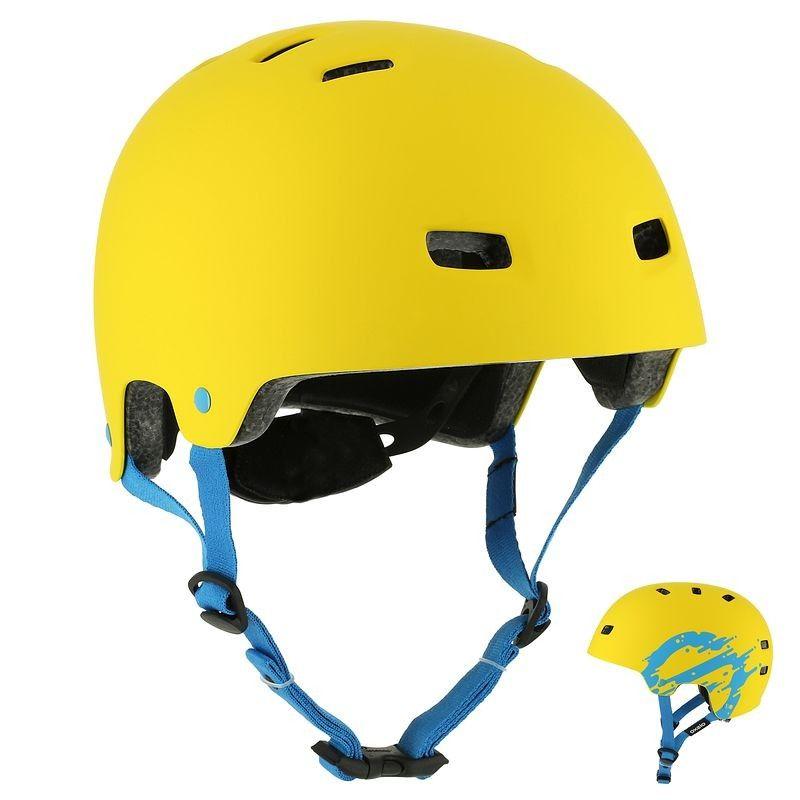 Rolki Ochraniacze Akcesoria Kask Mf 7 Zolty Helmet Bicycle Helmet Decathlon
