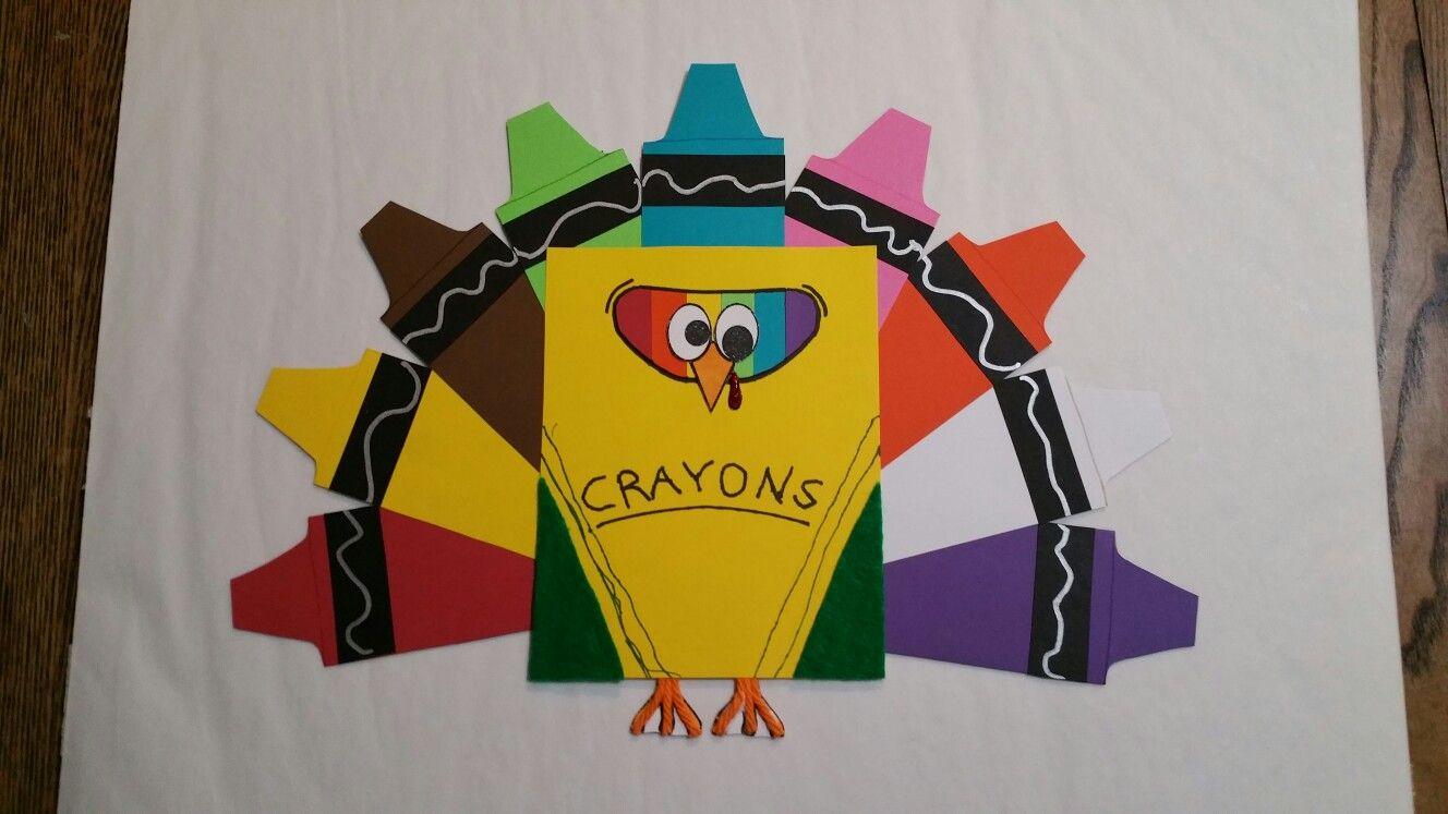 Crayon Box Turkey In Disguise School Project Turkey Disguise Turkey Disguise Project Turkey Project