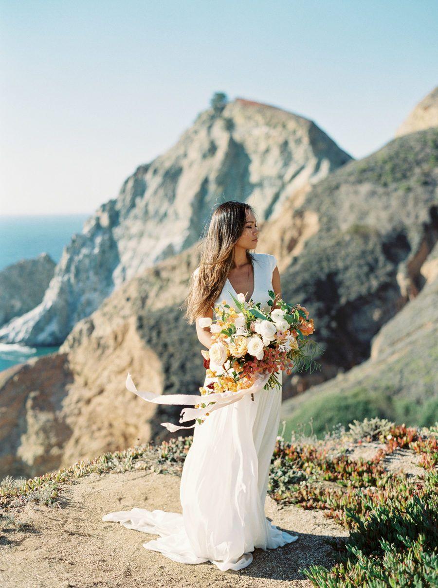 California cliffside elopement inspiration in 2020