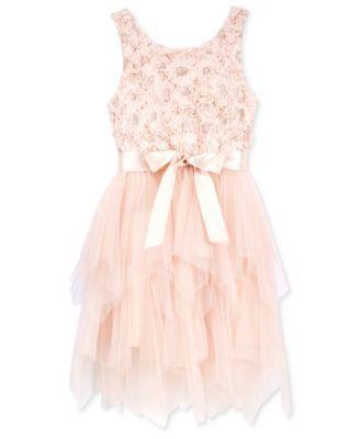 8608166d9ac Pink   Violet Girls  Soutache   Tulle Dress